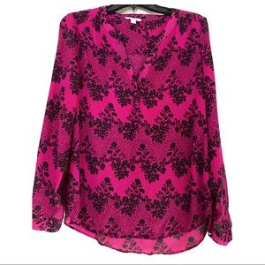 Candies fuchsia and black blouse